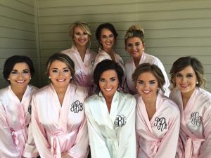 Embroidered robes by Monogram Madness