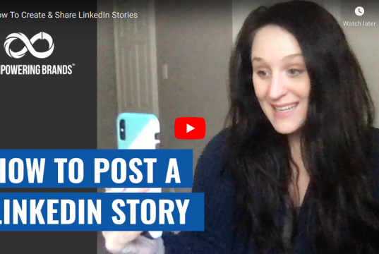 How to post a linkedin story